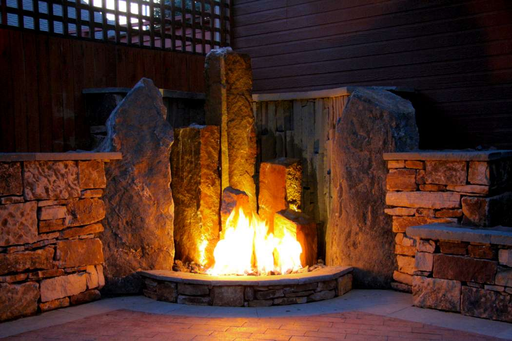 Luxescapes landscape design and installation contractor for Fire and water features